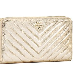 NEW Victoria's Secret V Quilted Continental Wallet